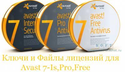 Скачать Рабочие ключи для Avast/b. Internet.